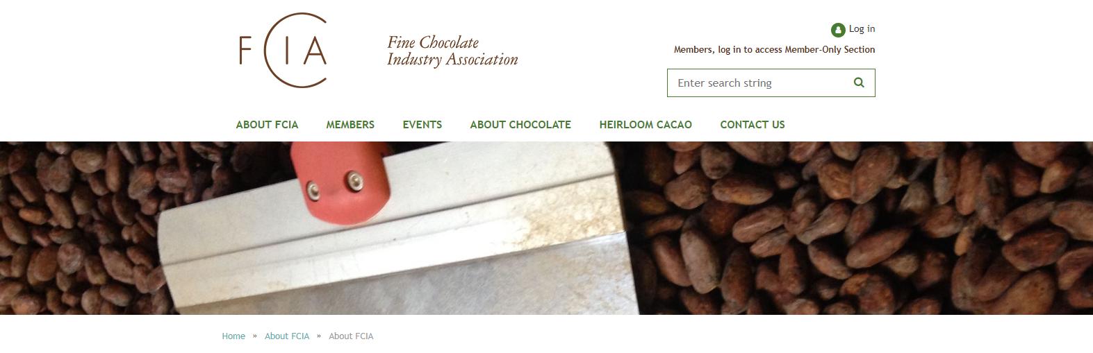 Fine chocolate industry website