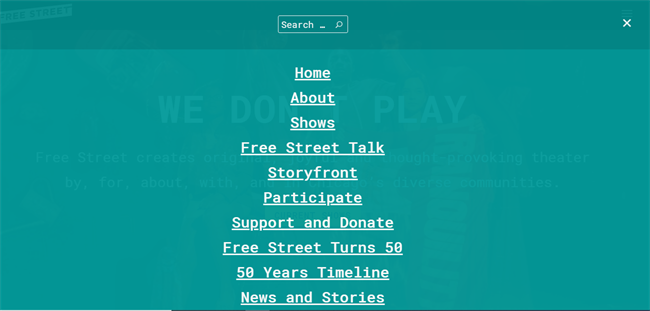 Free Street Menu best nonprofit website