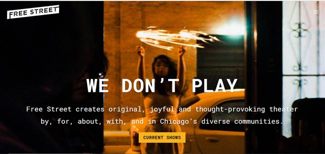 Free Street Theater best nonprofit website