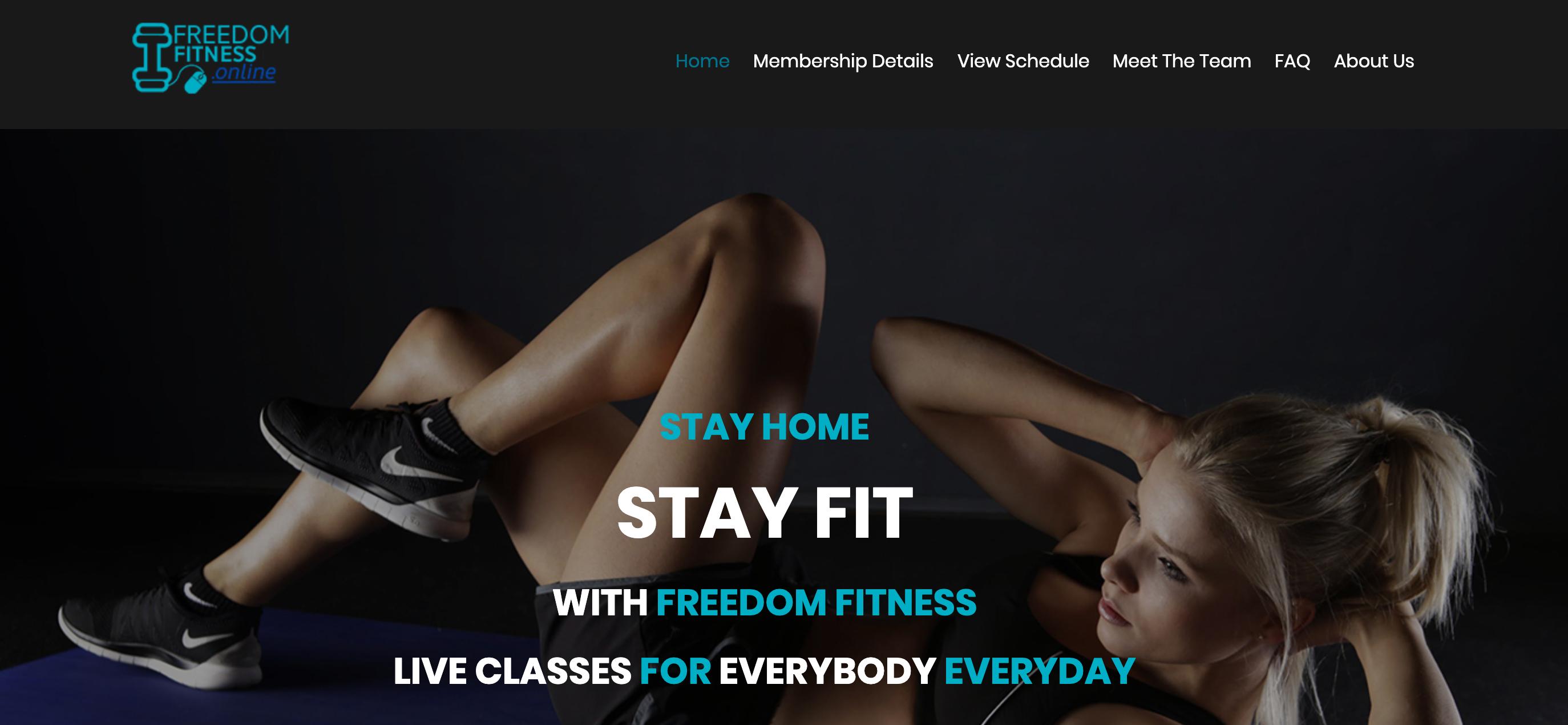 freedom fitness website