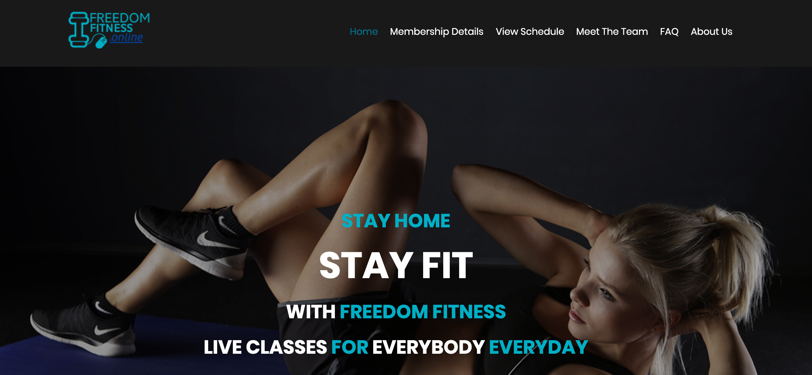 freedom fitness website