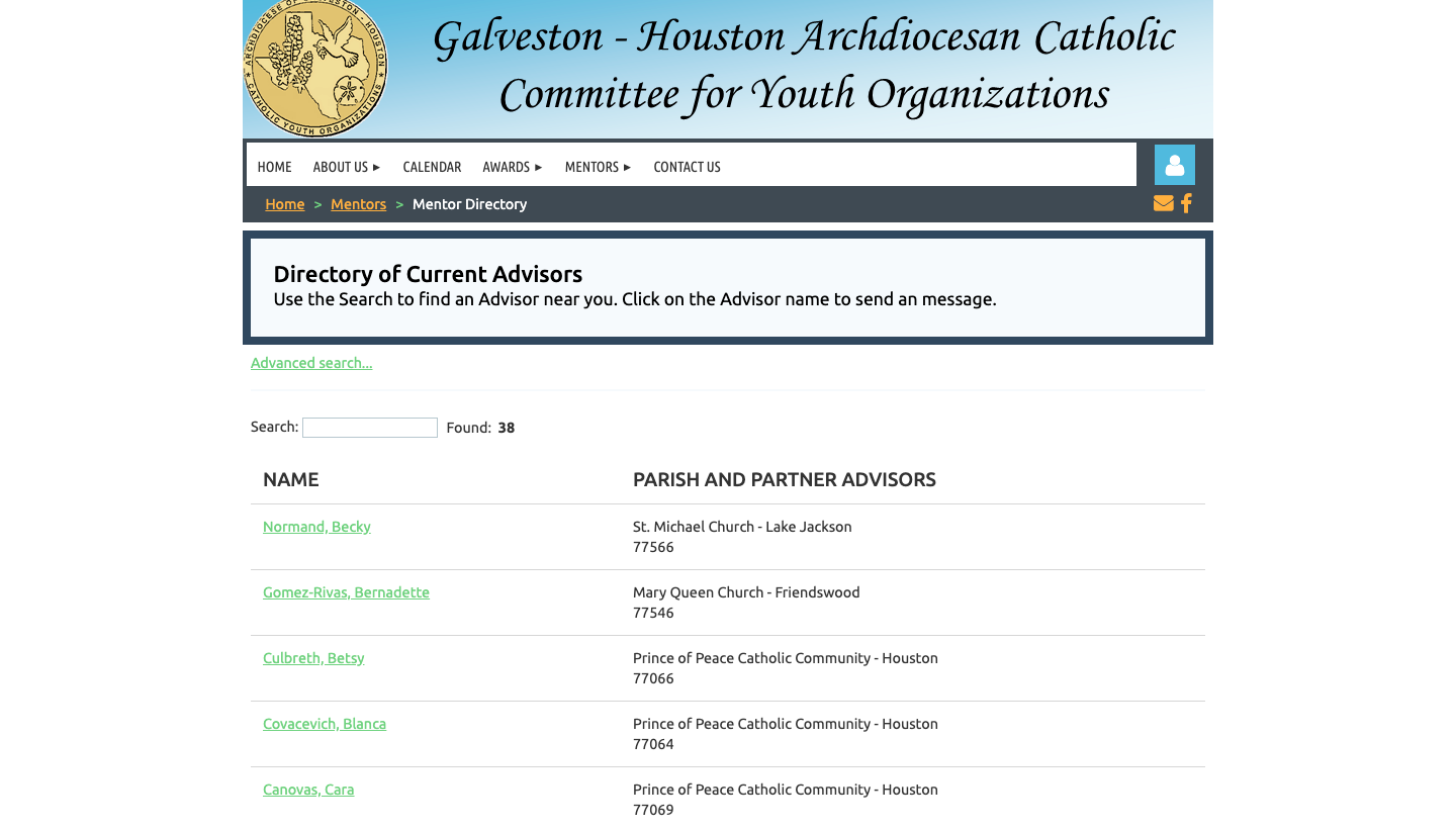 Galveston-Houston Archdiocesan Catholic Committee for Youth Organizations