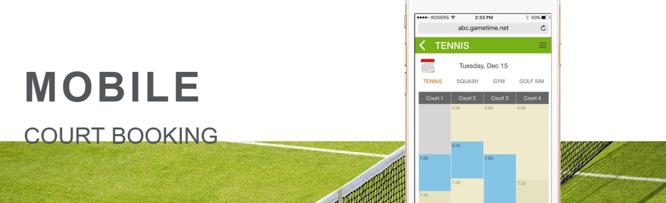 Gametime tennis club software
