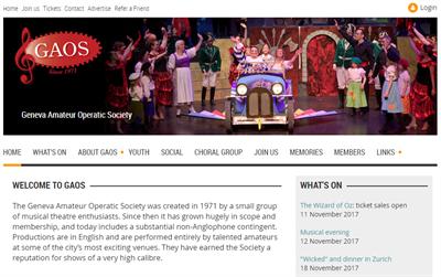 GAOS Membership Website Example