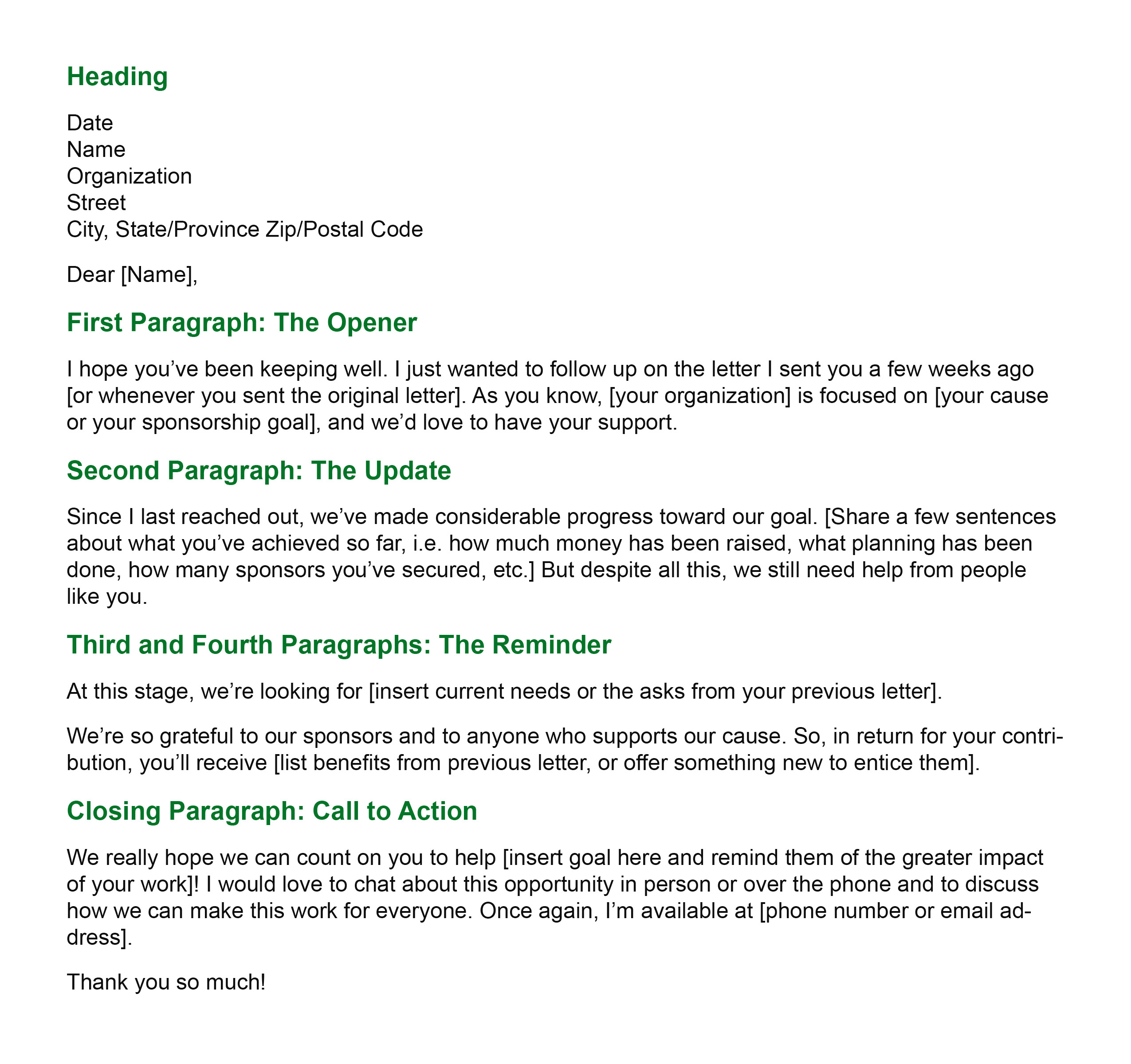 General Follow-Up Letter template