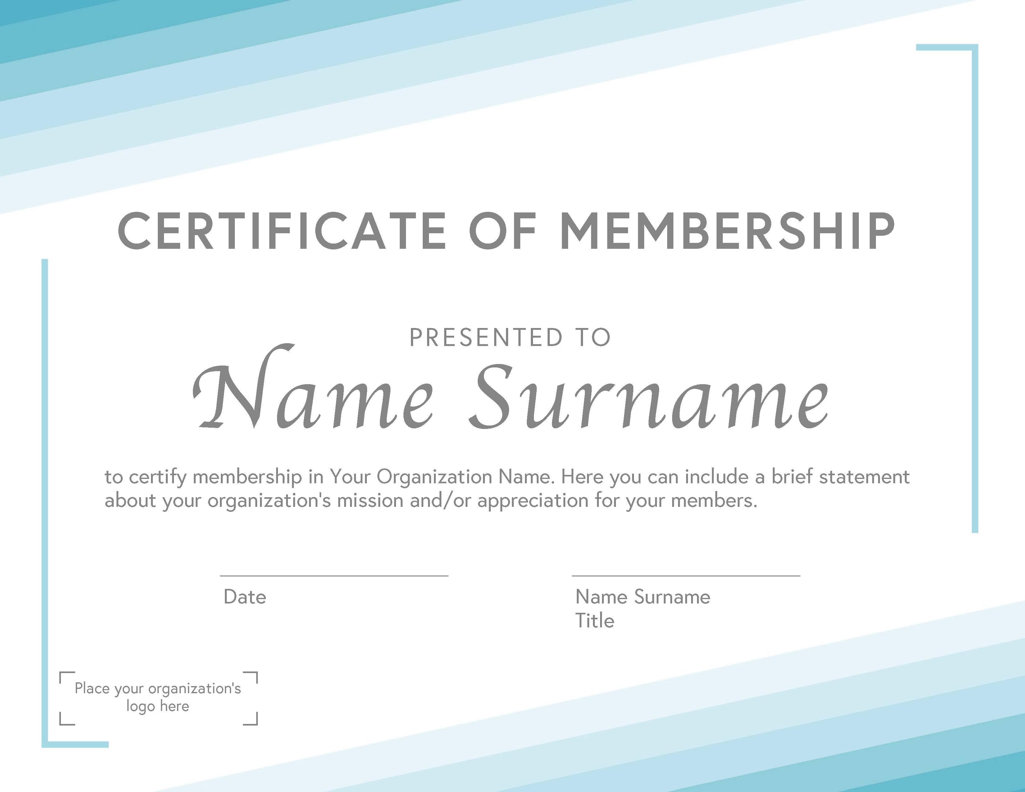 General Membership Certificate B