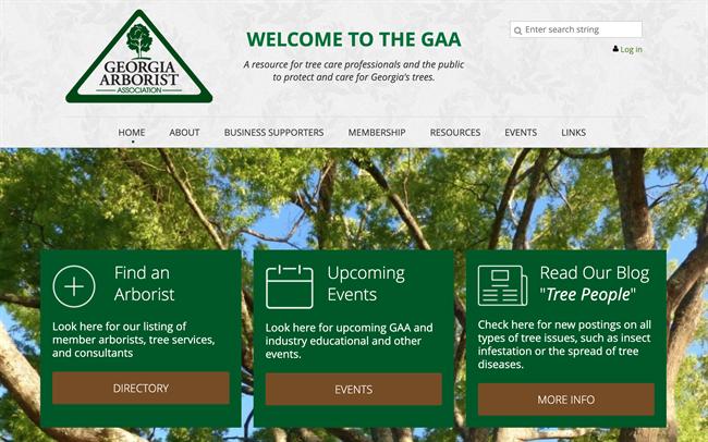 georgia arborist association best nonprofit website