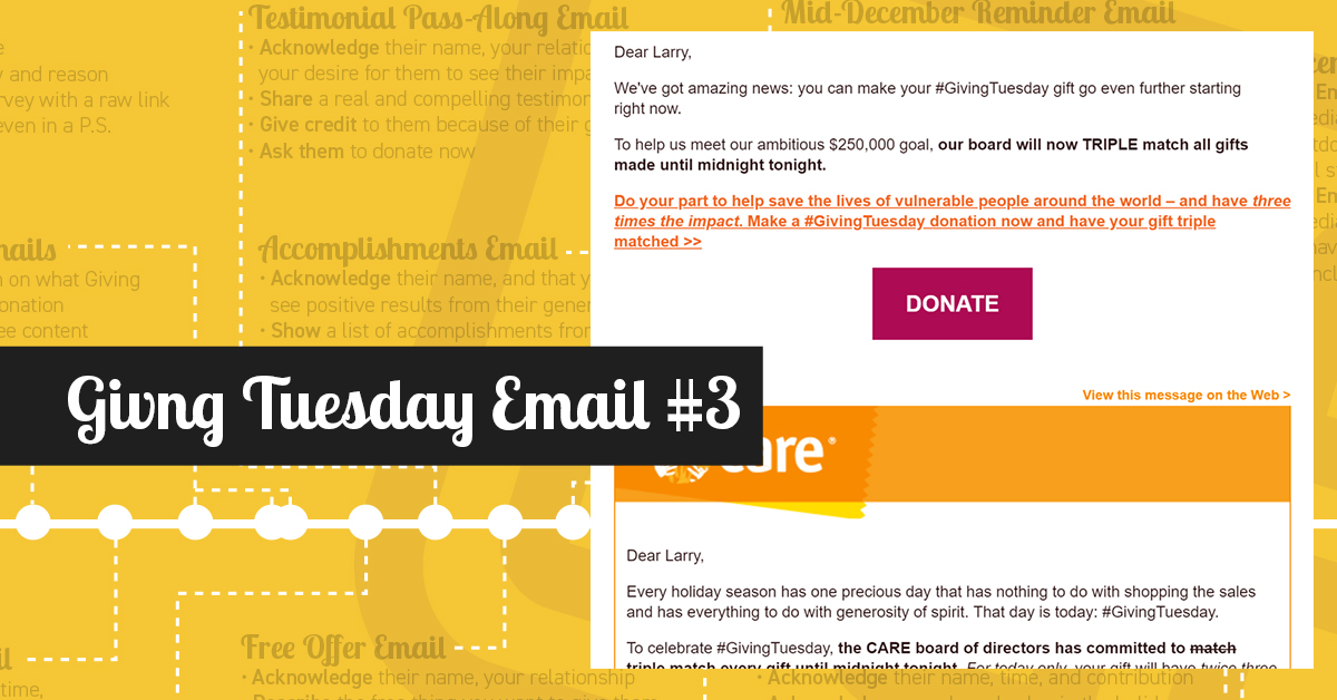 year-end fundraising email
