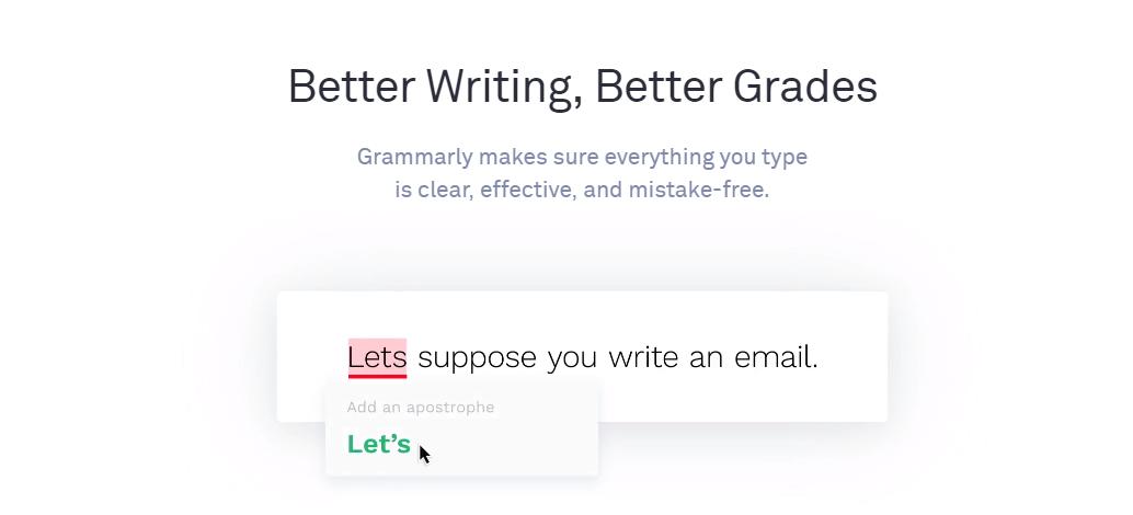 Grammarly Productivity Tools