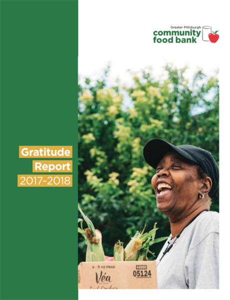 Greater Pittsburgh Community Food Bank annual report cover
