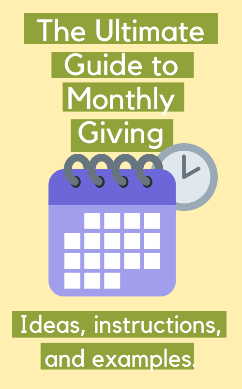 Guide to Monthly Giving sidebar