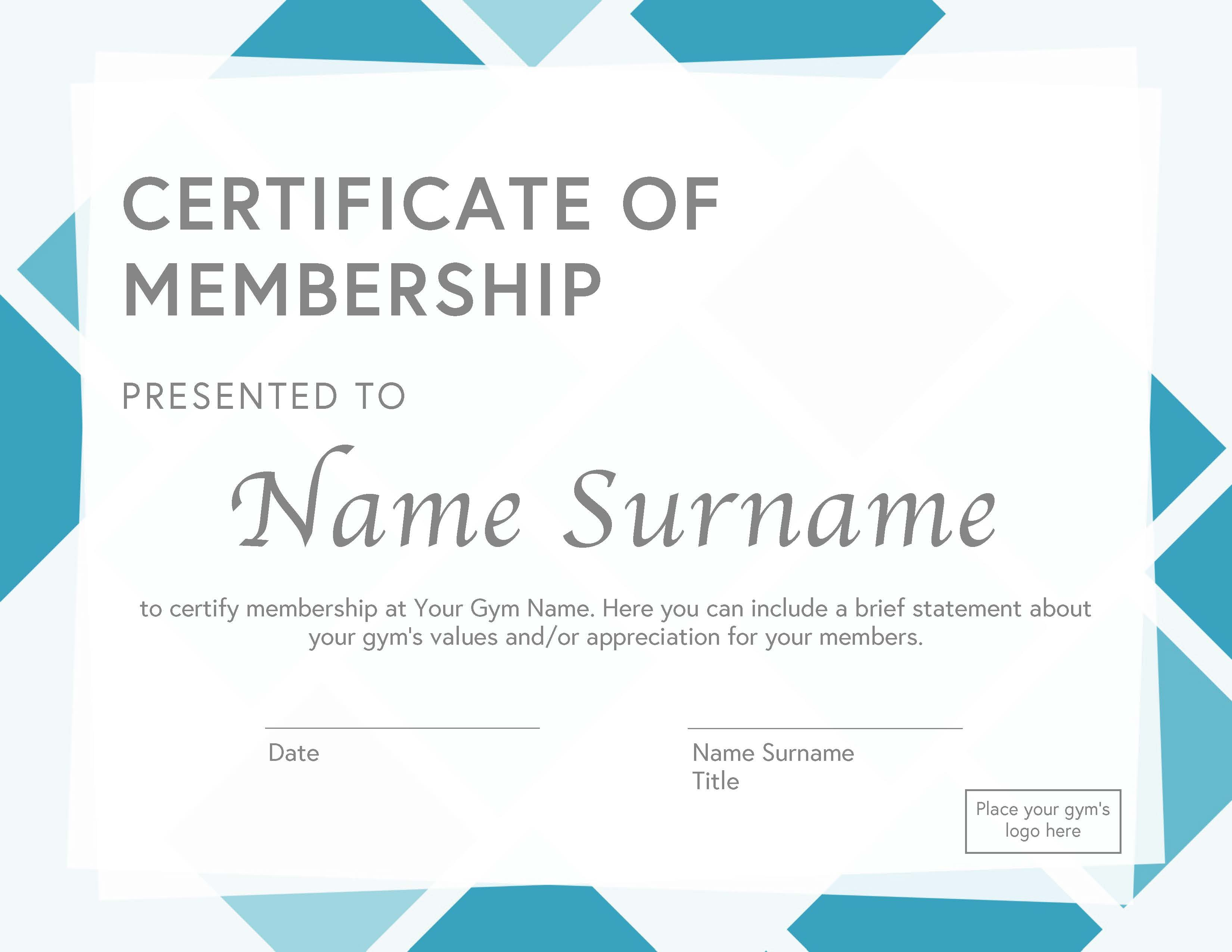 21 Membership Certificate Templates for Any Occasion (Free Download) For Running Certificates Templates Free