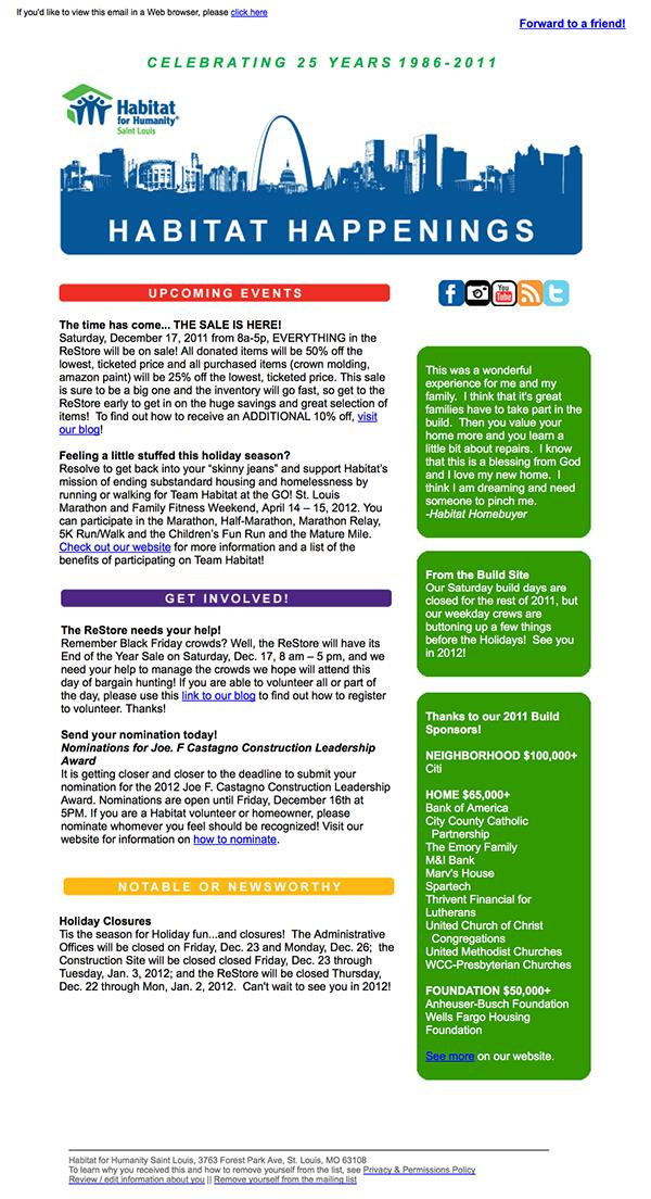 nonprofit newsletter