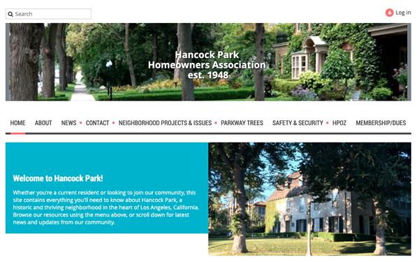 Hancock Park Homeowners Association website