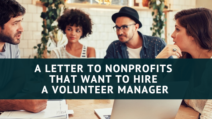 Hire a Volunteer Manager