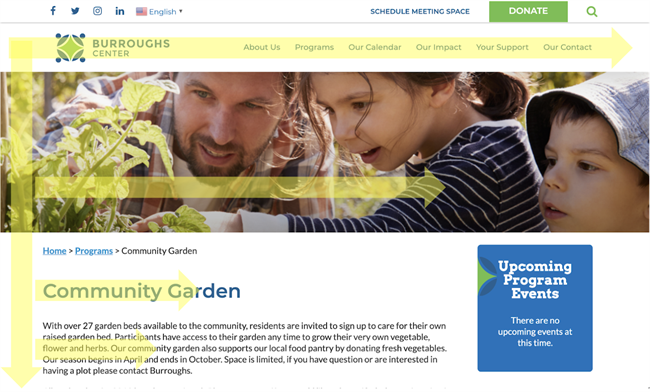 how to create a nonprofit website Burroughs Center