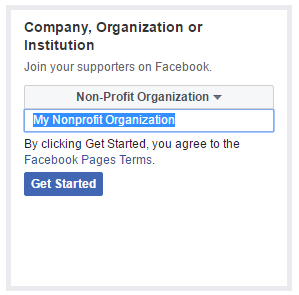 how to nonprofit facebook page