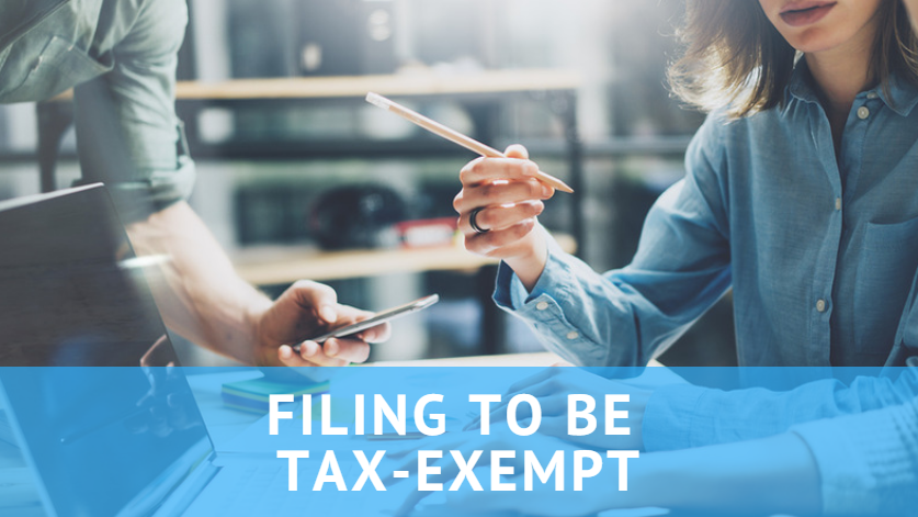 how to start an association tax exempt