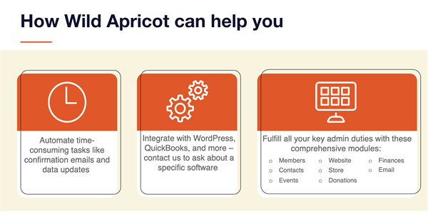 how wild apricot can help you presentation slide