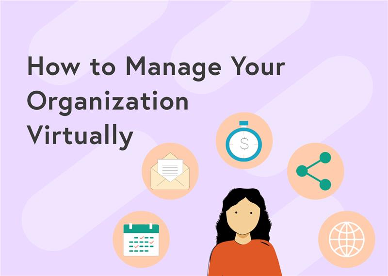 Header image: how to manage organization virtually