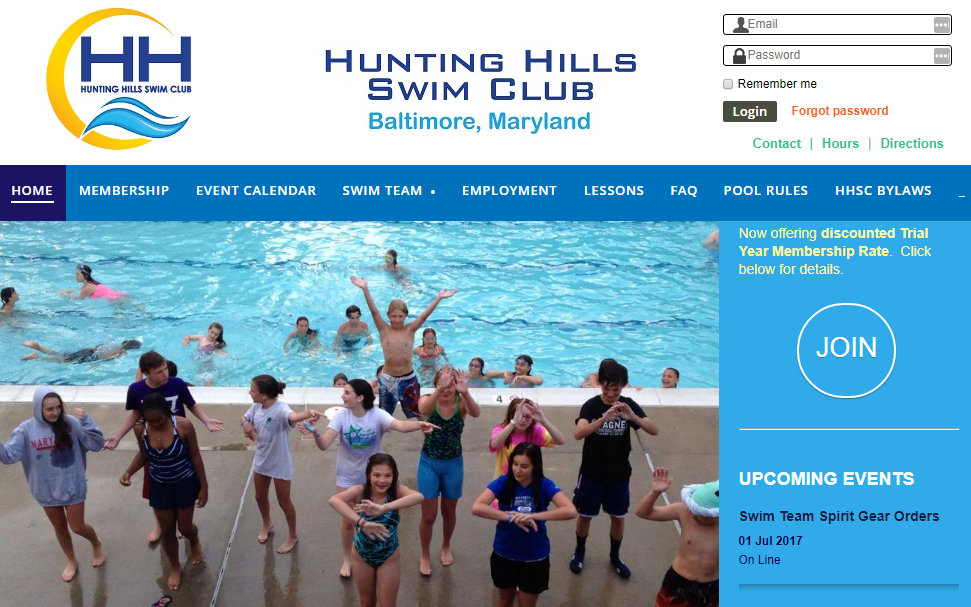 Hunting Hills Swimming Club Software