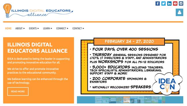 illinois digital educators alliance best nonprofit website