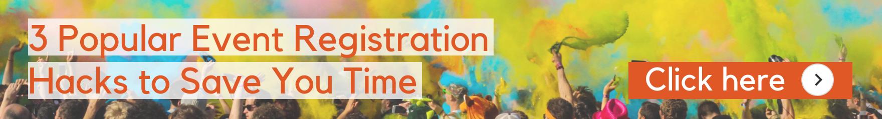 Integromat event registration banner