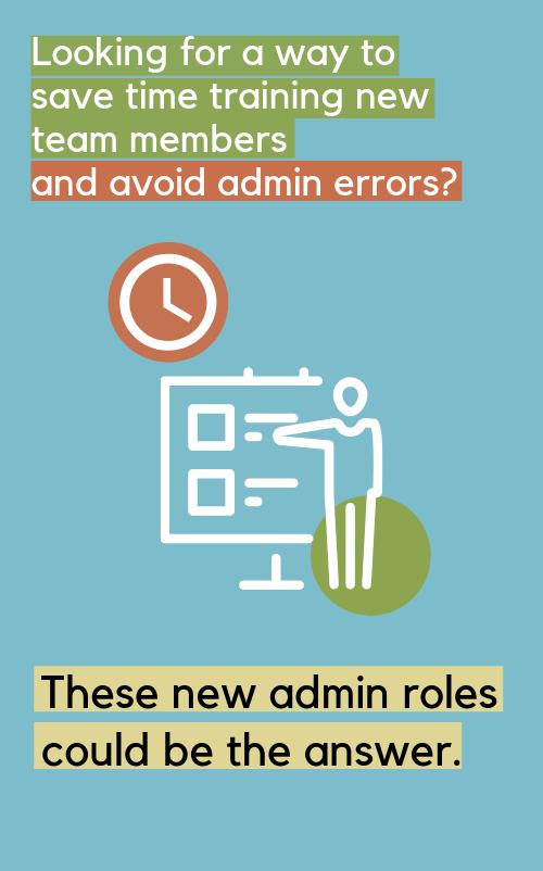 Admin roles sidebar