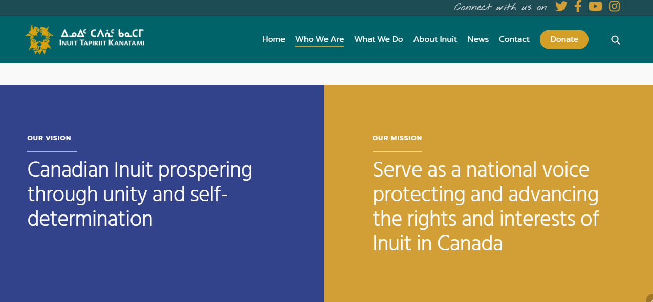 Inuit TK best nonprofit website