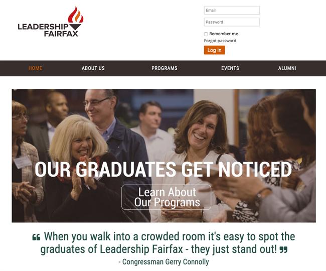 Leadership Fairfax best nonprofit website