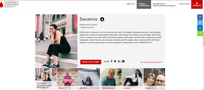Leukemia and Lymphoma Society best nonprofit website