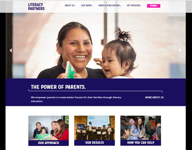Literacy Partners best nonprofit website