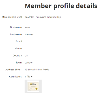 Member certificate screenshot resized