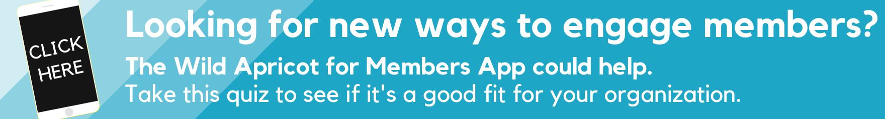 Member engagement app banner