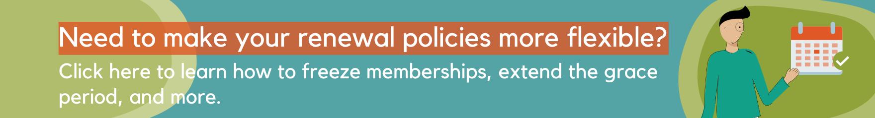 Member renewal flexibility banner