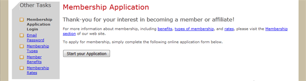 membership form information