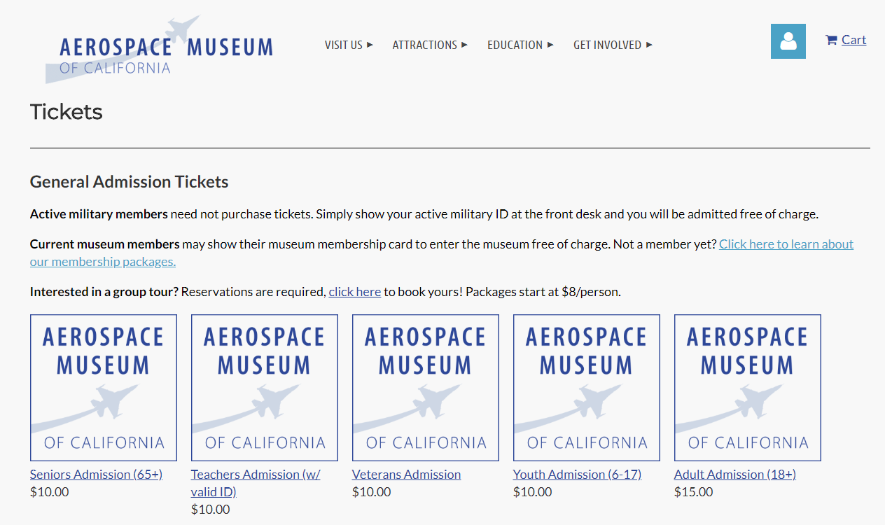 Membership Online Store Aerospace Museum