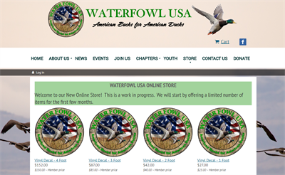 Membership Online Store Waterfowl USA