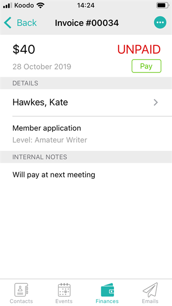 Mobile finances - add notes 3