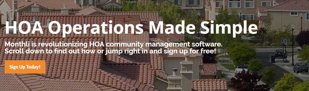 Monthli Homeowner Association Software
