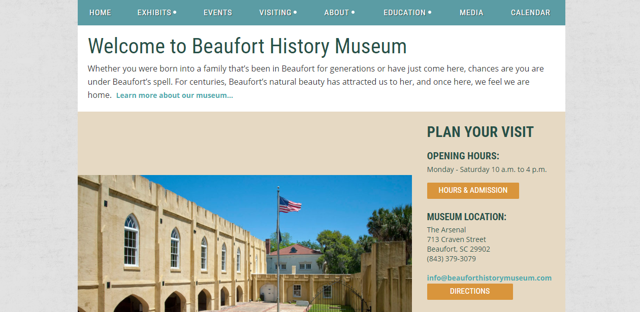 Museum Membership Software Beaufort History Museum