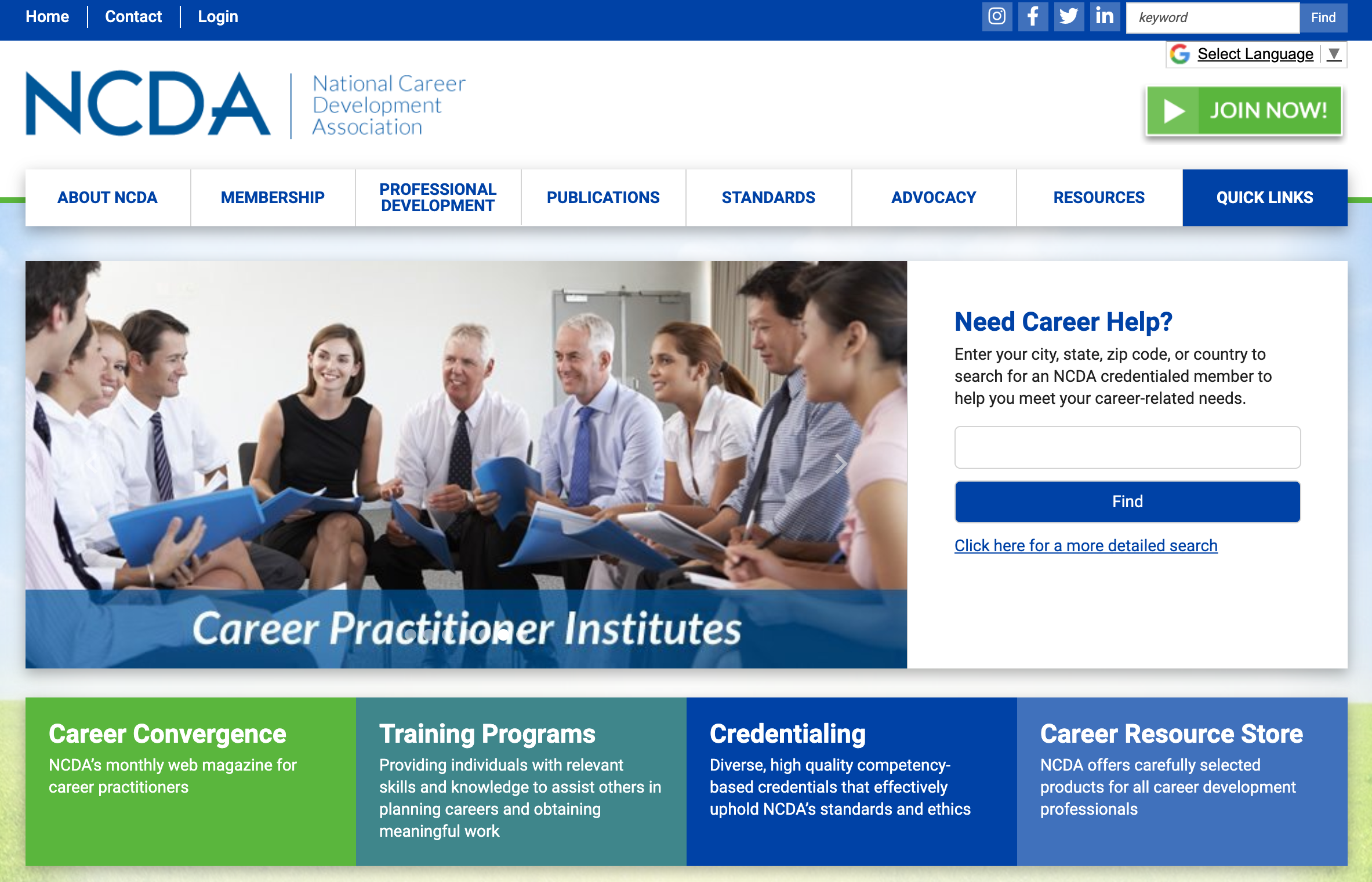 national career development association website
