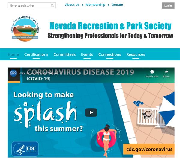 Nevada Recreation & Park Society website