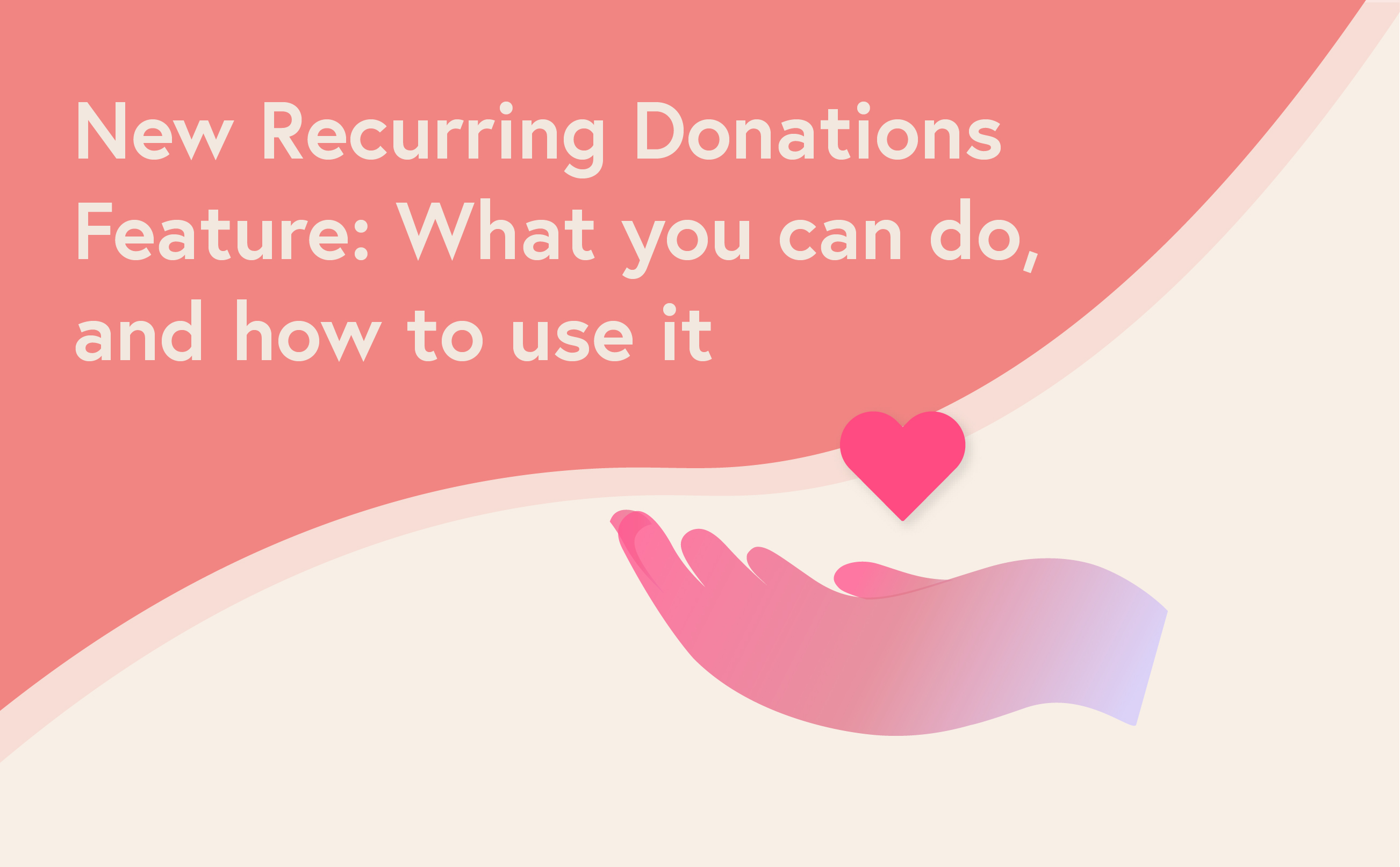 Recurring donations feature post