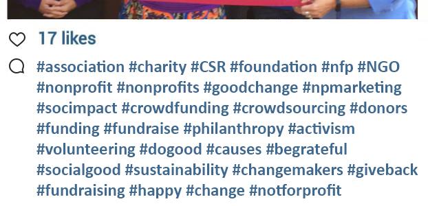 Nonprofit Hashtag Example