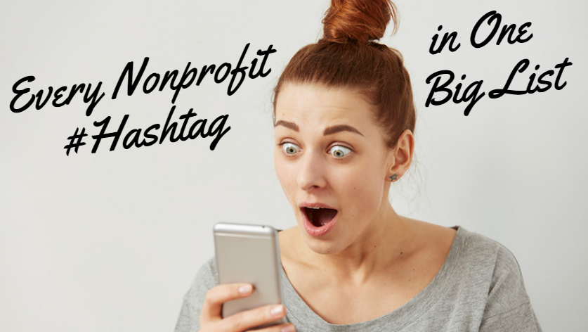 nonprofit hashtags