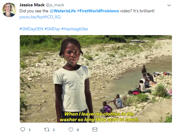 Nonprofit Hashtags Water is Life