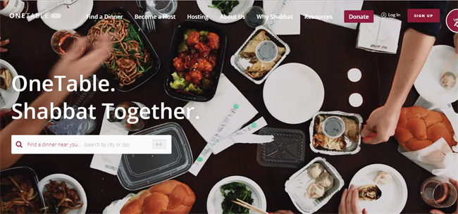 One Table best nonprofit website