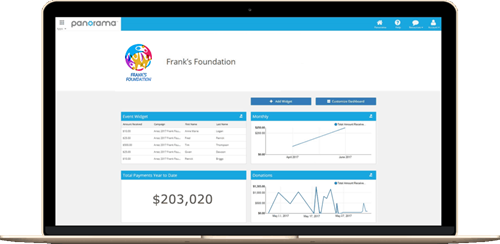 panorama fundraising software