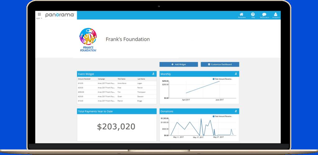 panorama fundraising software